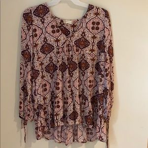 Altar'd State Peasant / boho inspired blouse sz m